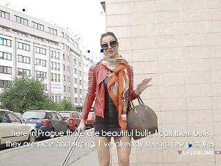 Behind the scenes with large fake tits pornstar Priscilla Salerno