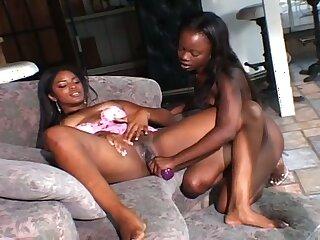 Amazing amateur big racked black nympho loves some masturbation