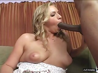 Lovely luscious blonde beauty wants give succeed in a taste of that black boner