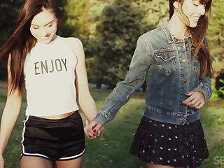 Coarse lesbian sex round outdoors raison d'etre twosome cute best friends