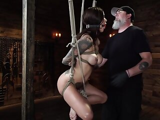 Haley Wilde And Di Marco In Hogtied Bondage Video