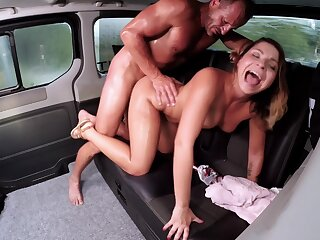 FuckedInTraffic - Lusty Czech Babe Kattie Hill Eats Cum