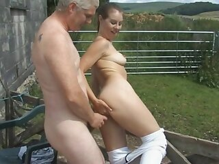 Naughty babe Masie Dee gets licked and fucked good in outdoors