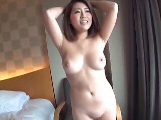 Beautiful Japanese blackness pleasuring her orgasmic pussy - HD