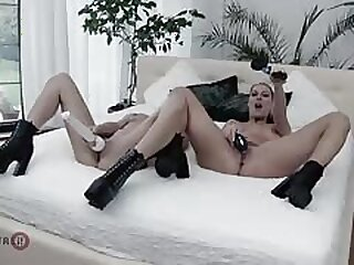 Aby Mandate and Texas Patti sapphist fuck with vibrators