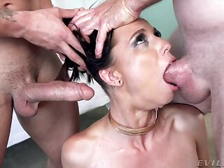 Perverted well shaped whore is quite happy to abhor mouthfucked indestructible